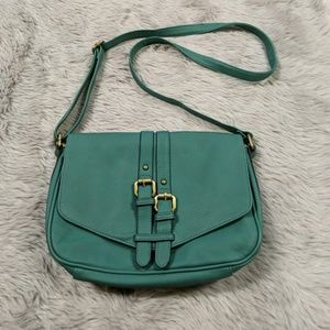 Green cross body purse